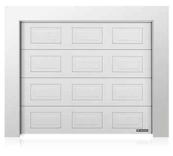 Porte de garage en panneaux à cassettes