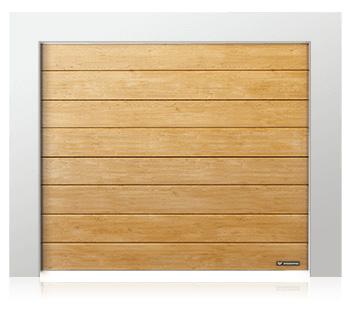 Porte de garage en panneaux aux mono-rainures